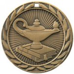 FE Series Medals -Lamp of Knowledge  Scholastic Trophy Awards